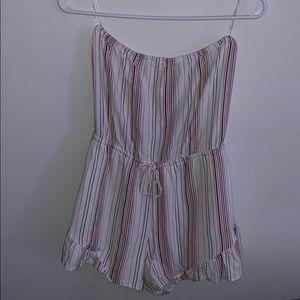 PacSun strapless striped romper